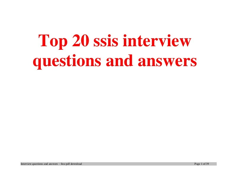 Top ssis interview questions and answers job interview tips fandeluxe Images