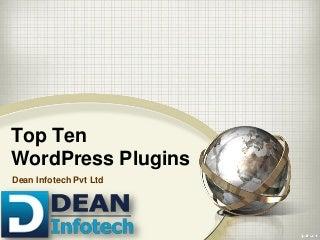 Top ten word press plugin.