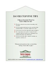 Davies Top 5 Tips- Home Viewing for Buyers