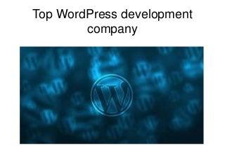 Top word press development company