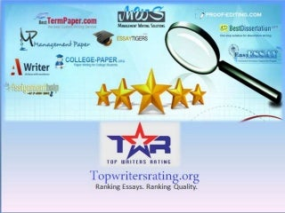 Best Essay Writing Review - 2014 - Topwritersrating.org