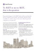 GT UK - To REIT or not to REIT, that is the question