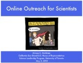 Online Outreach for Scientists