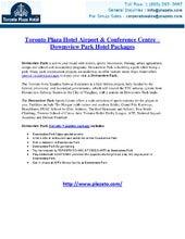 Downsview Park Toronto Hotels, Hotels near Downsview Park Toronto | Toronto Plaza Hotel
