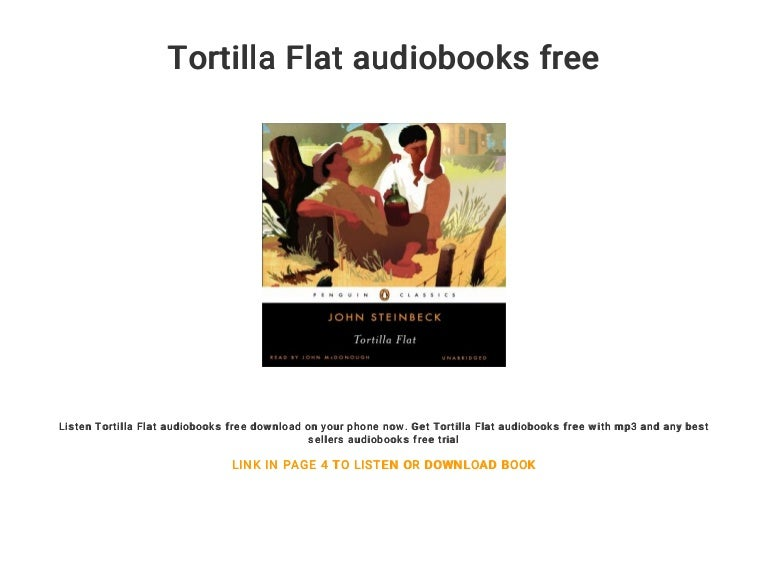 Tortilla flat audiobooks free.