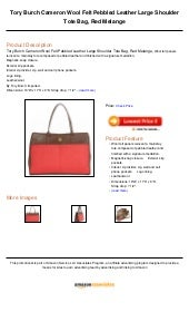 18d07d9dd Tory burch cameron wool felt pebbled leather large shoulder tote bag