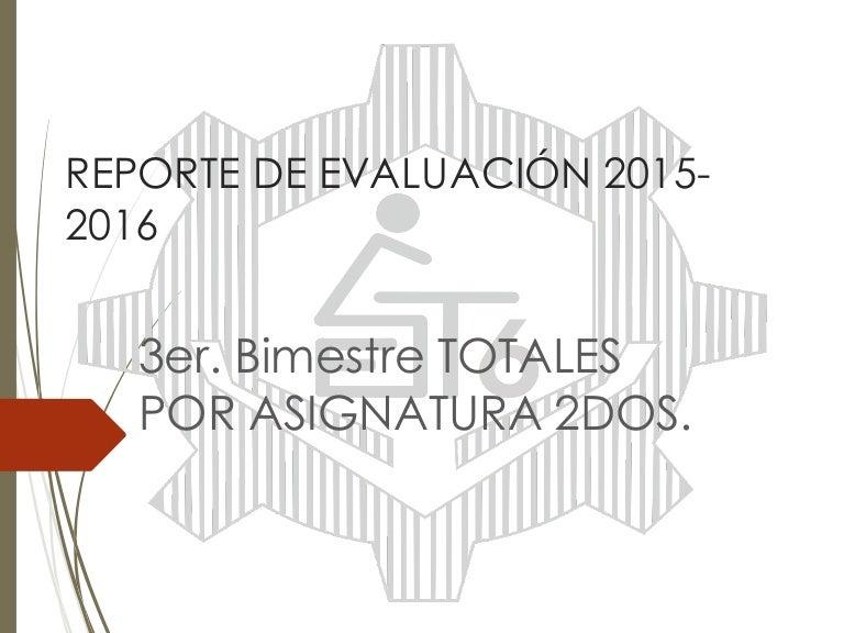 Totales asig. 2° 2015 2016