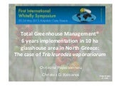 Total Greenhouse Management® 6 years implementation in 10 ha glasshouse area in North Greece the case of Trialeurodes vaporariorum