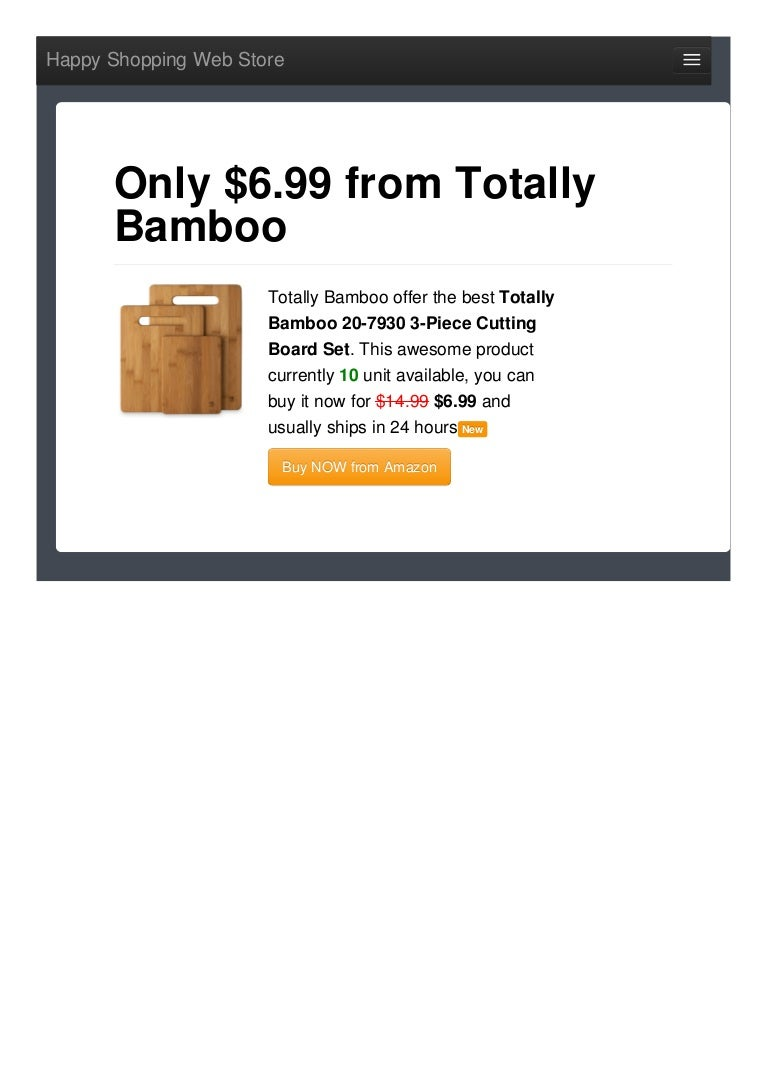 Totally Bamboo Offer The Best 207930 3piece Cutting Board Set Only 69