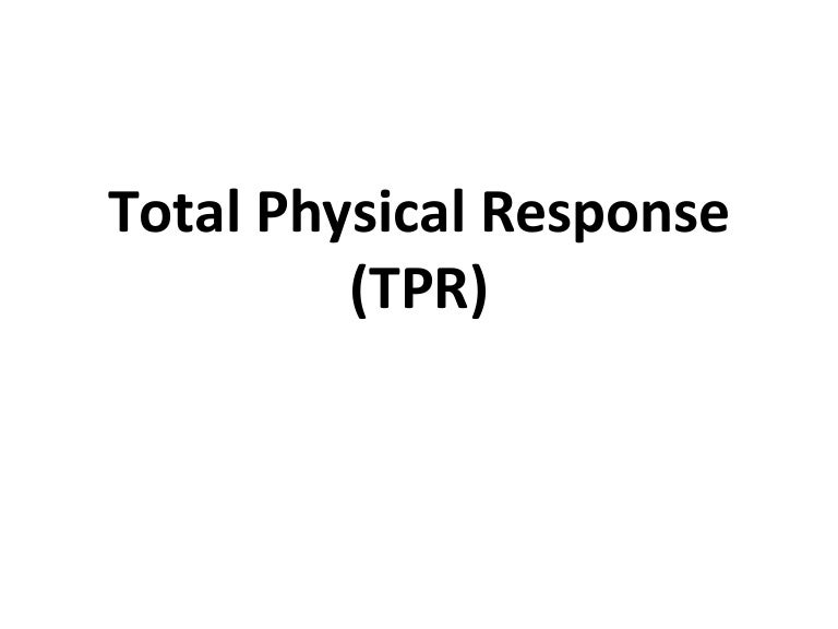 Total Physical Response Cpr1 1