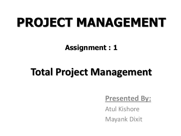 project management assignment help Get online experts for your project management assignment help students of project management primarily comprise of professionals from the industry who have had prior experience in their respective domains, but are new to the concepts of project management and its applications.