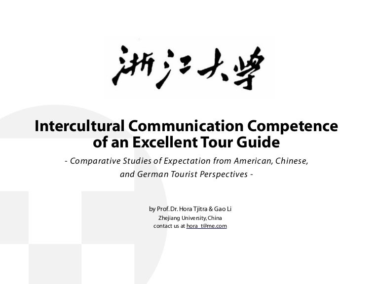 Tour Guide Intercultural Communication Competence