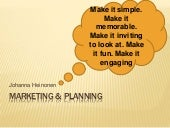 Tourism marketing planning
