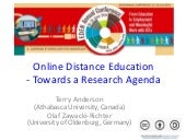 Towards a research agenda Eden 2014, Zagreb