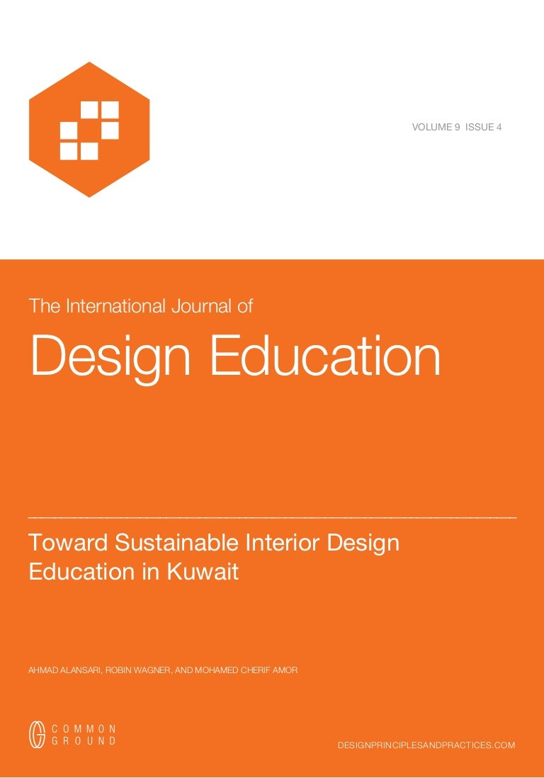 Toward Sustainable Interior Design Education In Kuwait