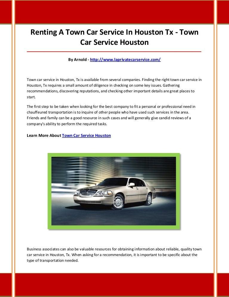 Car Service Houston >> Town Car Service Houston