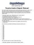 Toyota Avalon Electrical Wiring Diagram Manual Pdf Download 1995 2013