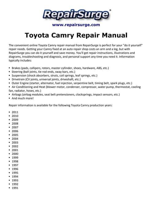 toyotacamryrepairmanual1990 2011 141114131728 conversion gate02 thumbnail?cb=1415971633 toyota camry service & repair manual 1987, 1988, 1989, 1990, 1991 toyota wire harness repair manual at eliteediting.co