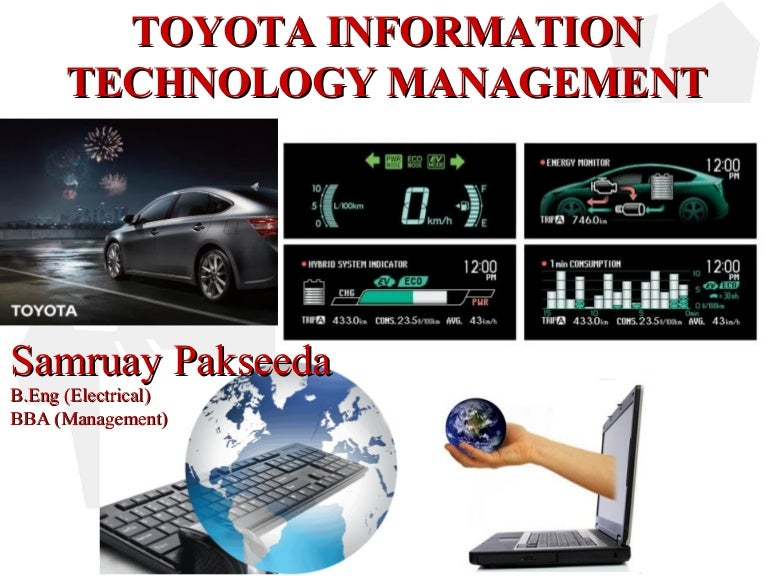 Technology Management Image: Toyota Information Technology Management