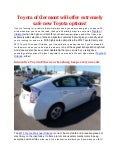 Toyota of Clermont will have safe new Toyota for you!