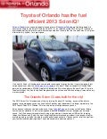 Toyota of Orlando has the fuel efficient 2013 Scion iQ!