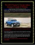 Toyota of Orlando has the new 2013 Toyota FJ Cruiser!