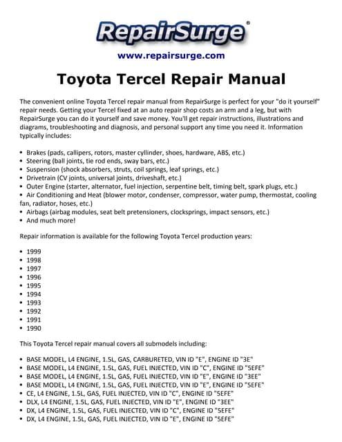 2003 toyota 4runner repair manual pdf free