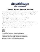 2009 2011 toyota venza service repair manual download 2009 2010 2011 rh slideshare net toyota venza manual 2009 toyota venza manual 2009