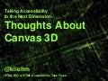 Accessibility in Canvas 3D