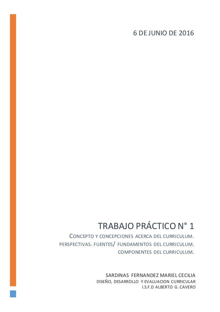 CONCEPTO Y CONCEPCIONES ACERCA DEL CURRICULUM. PERSPECTIVAS. FUENTES/…