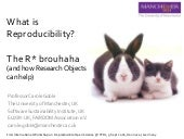 What is Reproducibility? The R* brouhaha and how Research Objects can help