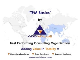 Total Productive Maintenance (TPM) Basics - ADDVALUE - Nilesh Arora