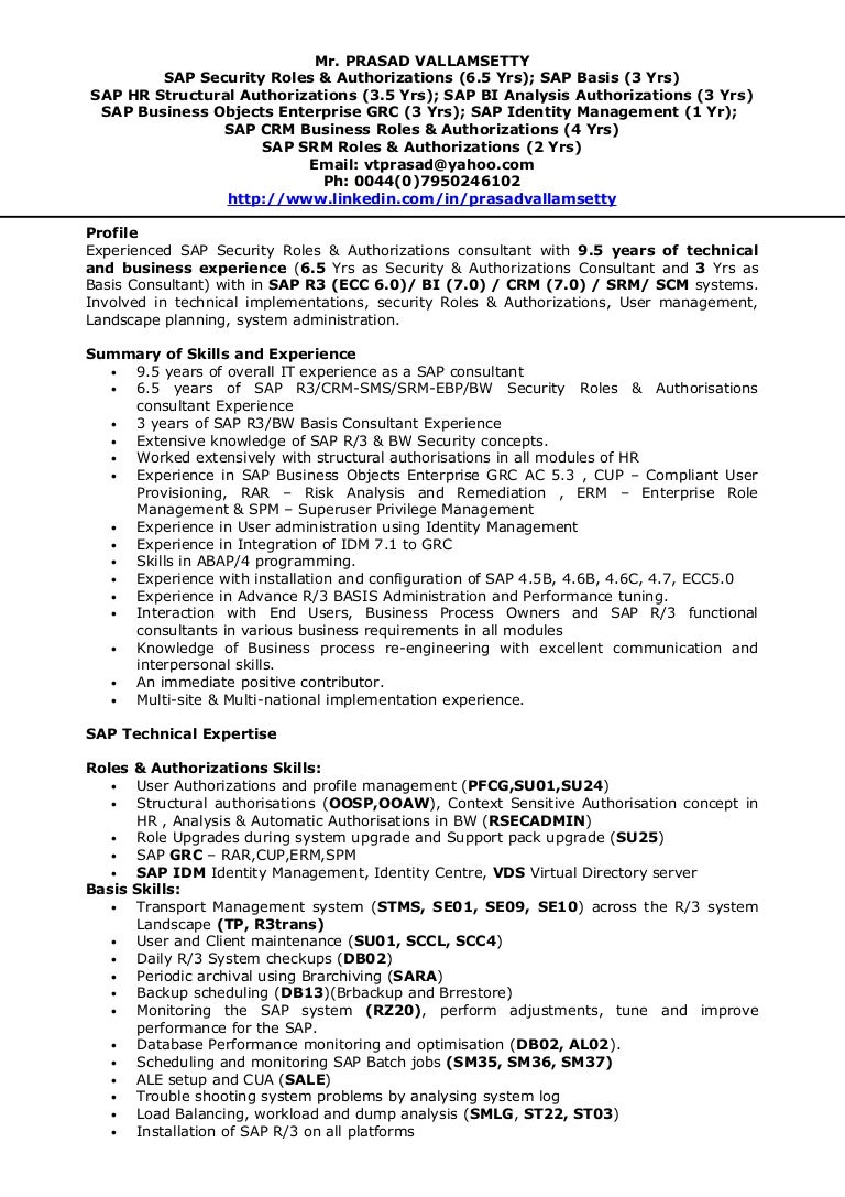 unsw resume template by sample sap resume resume cv cover letter sap bw  resume sample -