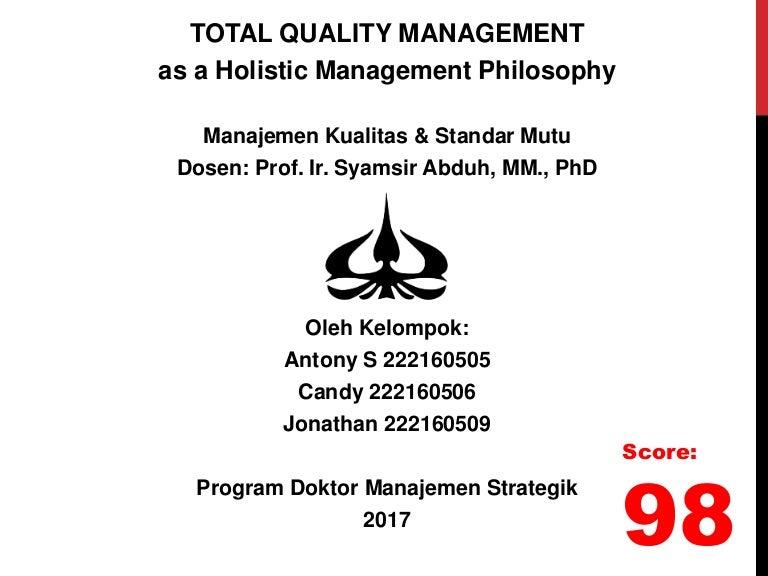 Uas manajemen kualitas dan standar mutu total quality management ccuart Choice Image