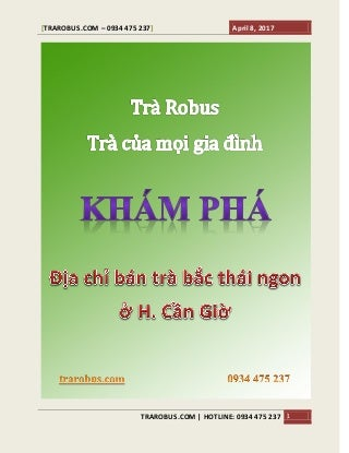 Tra bac thai nguyen can gio tphcm