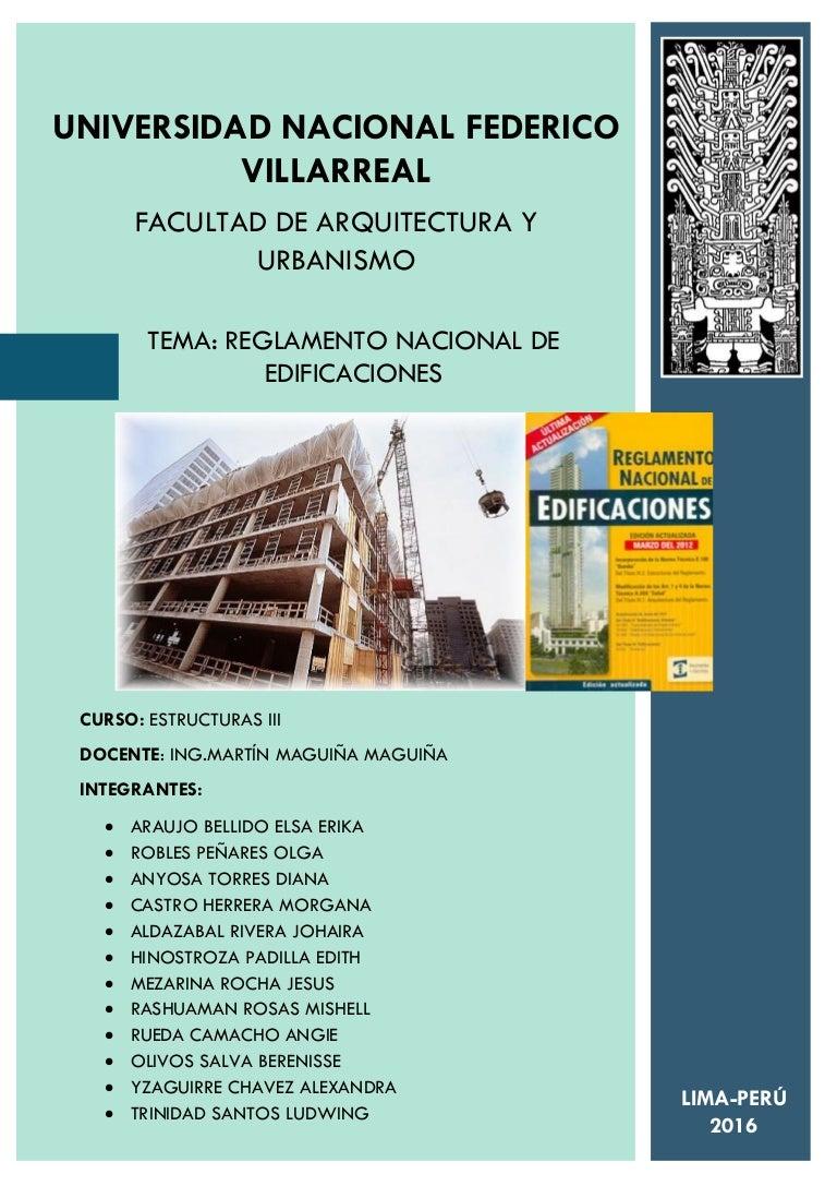 Normas Estructurales Reglamento Nacional De Edificaciones