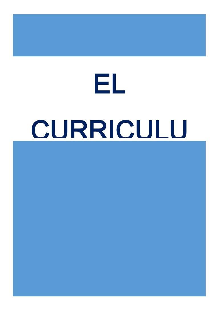 Trabajo de curriculum