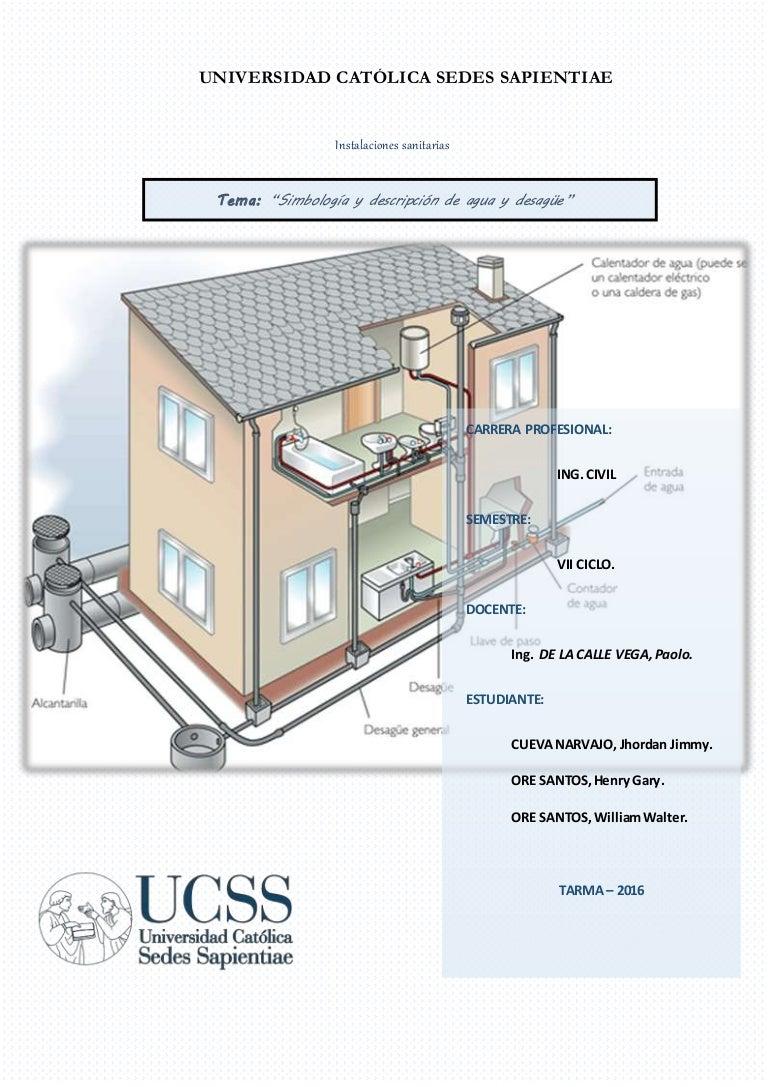 Worksheet. Simbologia agua y desague
