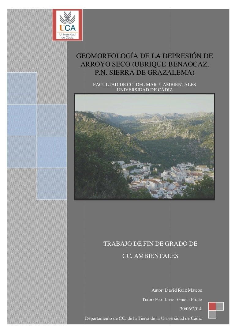 GEOMORFOLOGÍA DE LA DEPRESIÓN DE ARROYO SECO (UBRIQUE-BENAOCAZ, P.N. …