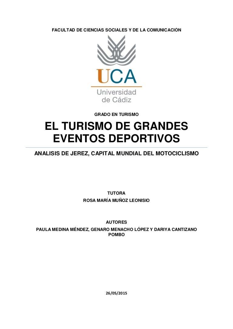 El turismo de grandes eventos deportivos: análisis de Jerez, Capital …