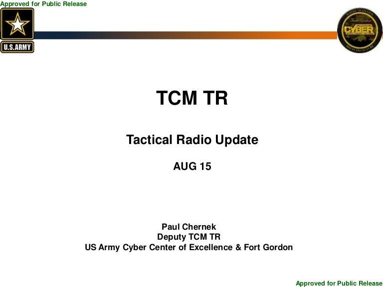 Tactical Radio Update: TechNet Augusta 2015