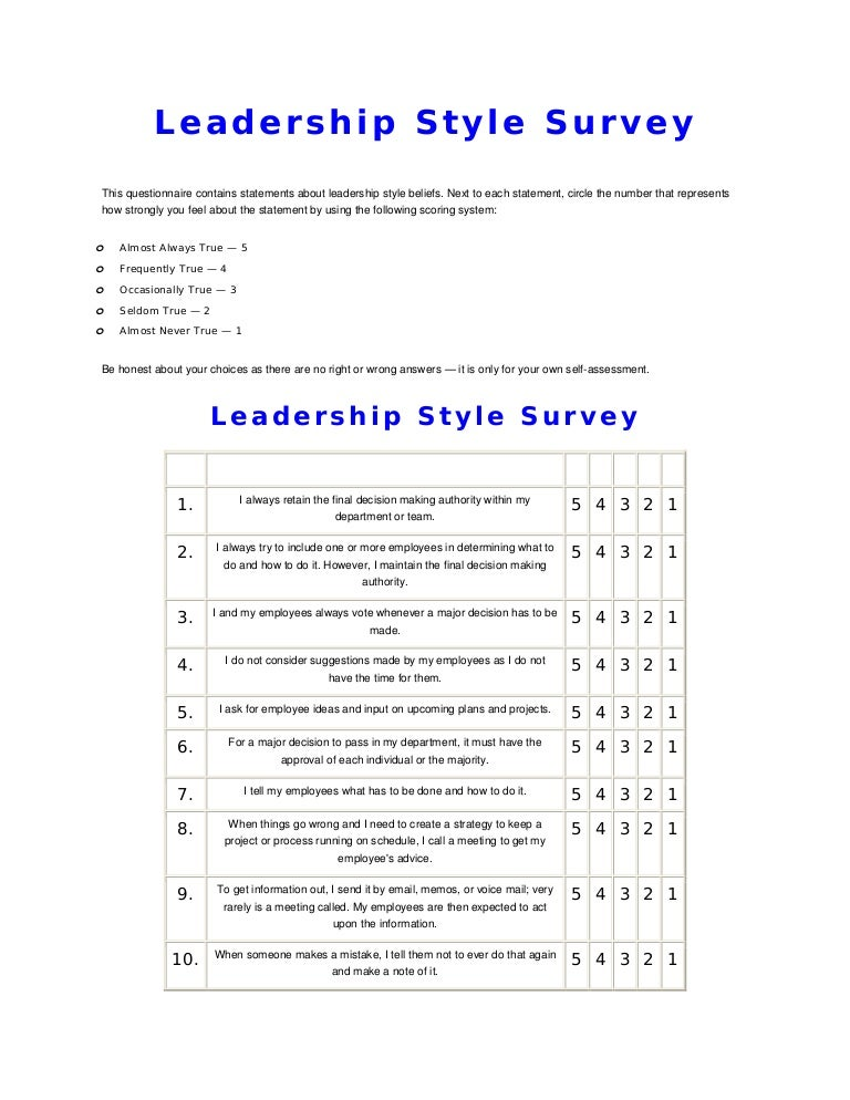 Situational Leadership Handout