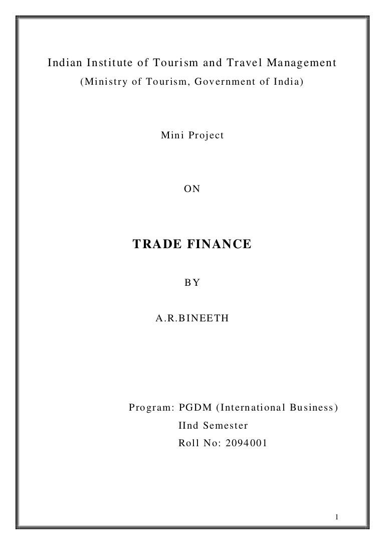 Self liquidating trade finance operations