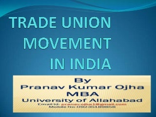Trade union movement