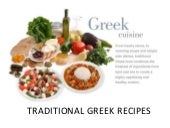 Greece - traditional dishes