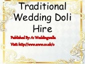 Traditional Wedding Doli Hire
