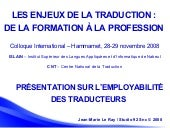 Traduction Formation Emploi Hammamet