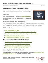 Trafficgenerationcafe.com: Search Engine Traffic Tutorial