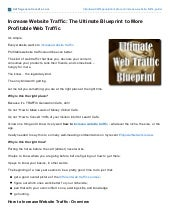 Trafficgenerationcafe.com: Increase Website Traffic Blueprint