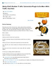 Trafficgenerationcafe.com: Sticky Profit Builder Traffic Conversion Plugin